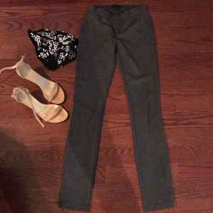 BCBG Gray Zippered Leggings Size XS